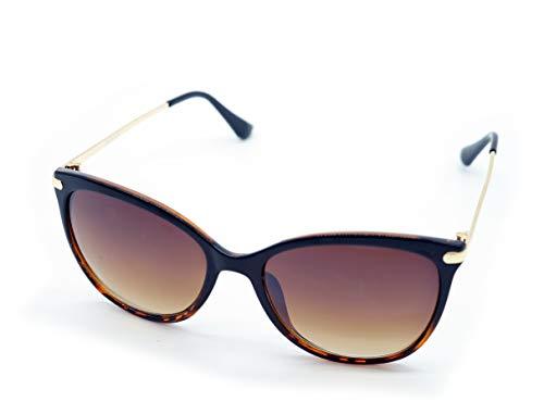 Kost Occhiali da sole donna 100% protezione UV lenti design farfalla - Classici Carey Habana Marrone Size: Talla única