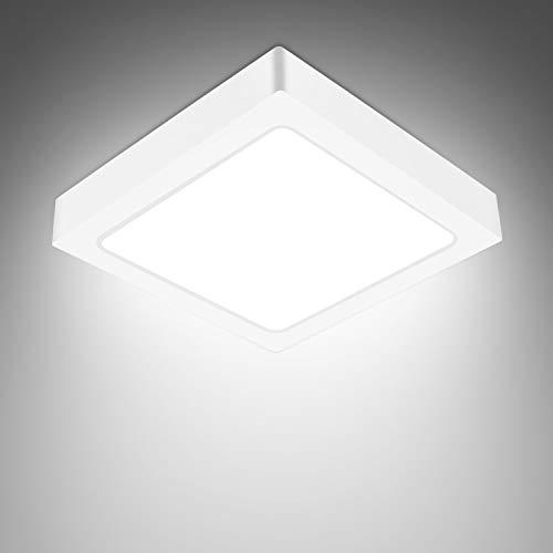 Plafoniera LED Soffitto 18W 1530LM Lampada da Soffitto per Soggiorno Camera da letto Bagno Cucina Corridoio e Balcone Bianco freddo 6000K Ø23cm [Classe di efficienza energetica A+]