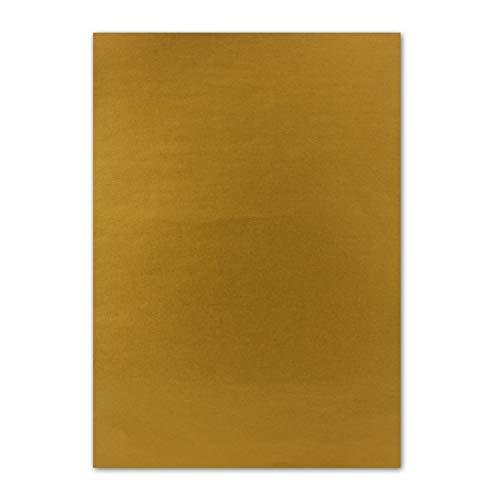 50x DIN A4 Papier beidseitig Gold glänzend, 21 x 29,7 cm, Bastelpapier, Foto Effekt-Papier mit Metallic-Effekt