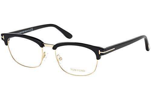 Tom Ford FT5458 Brillen 53-18-145 Schwarz Gold Mit Demonstrationsgläsern 001 TF5458
