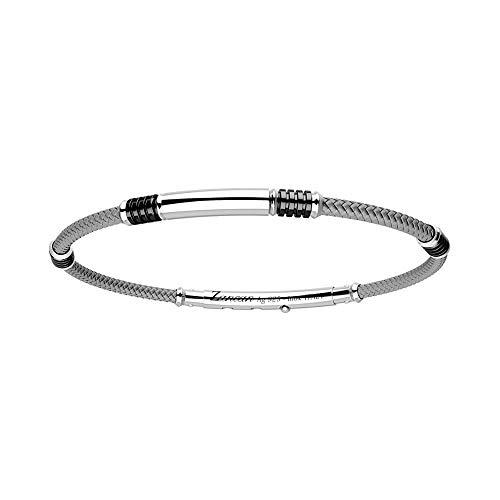 Pulsera para hombre Zancan de plata y cuerda gris - EXB576-GR
