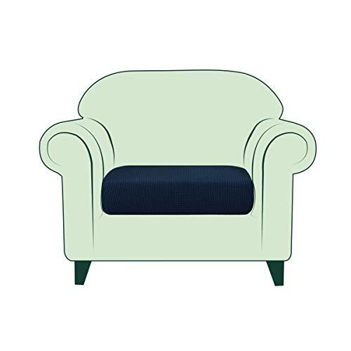 CHUN YI Copricuscino Divano Elasticizzato Copriseduta Protezione Cuscino del Divano per 1 Posto Sedia, Tessuto Jacquard Spandex Fodera per Cuscino (Sedia, Blu)