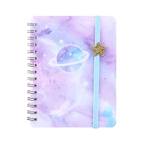 ZAZA Cuaderno Diario Cuaderno Portátil Lindo Pequeño Diario Bobina Transparente Bloc De Notas Esmerilado Libro De Palabras Regalo De Cumpleaños Cuadernos para Mujeres (Color : A)