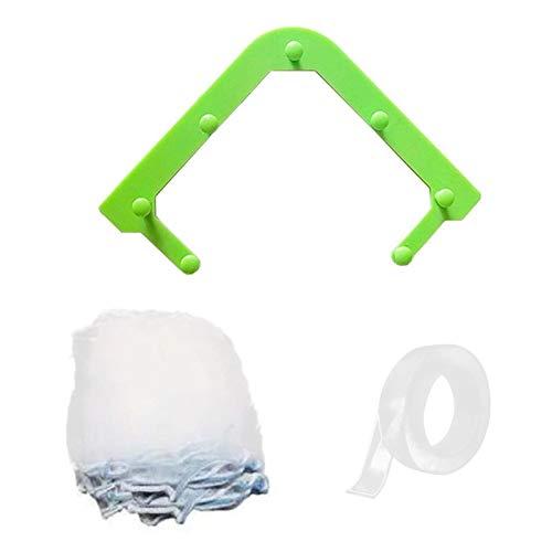 Amusingtao Kitchen Sink Drain Strainer,Triangle Tri-Holder Filter,Strainers Corner Bag, Hanging Mesh Net Bags, Leftovers Filter Basket Fine Mesh Bag, Kitchen Corner Sink Garbage Storage Rack Holder