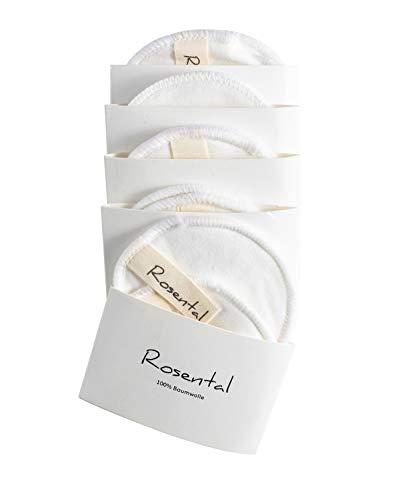 Rosental Organics Reinigungspads Aus 100% Baumwolle (Vegan & Ohne Mikroplastik) Make-Up Entferner Für Sensible Haut, Abschminkpads (10er Pack)