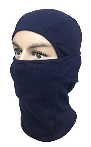 Gajraj Unisex Cotton Balaclava Anti Pollution Face Mask, Helmet Liner (Navy)