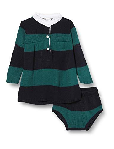 Gocco Vestido Polo Punto Rayas Marino Y Verde Dress, 43991 para Bebés