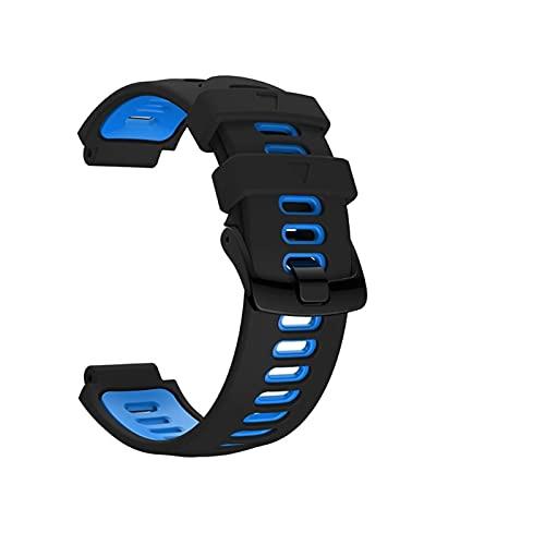ZXC - Correa de repuesto para pulsera de exterior con hebilla de acero de silicona para Garmin- Forerunner 735xt/220/230/235/620/630 para reloj inteligente (color de la correa: 5)