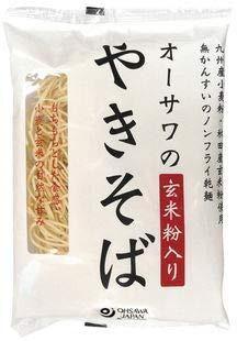 オーサワのやきそば(玄米粉入り)乾麺 160gx4(4個セット)