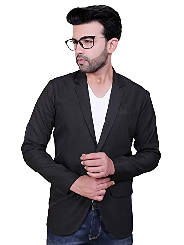 abc garments Solid Single Breasted Festive & Wedding Men Blazer (Viscose)