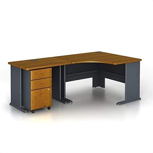 Bush Business Furniture Series A 3-Piece Corner Computer Desk in Natural Cherry