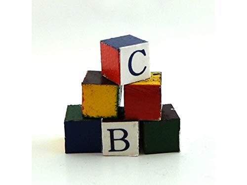Melody Jane Puppenhaus Miniatur 1:12 Kinderzimmer Zubehör Baby's Building ABC Blöcke