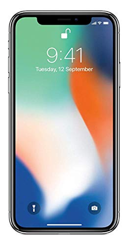Apple iPhone X 64GB Silver (Renewed)