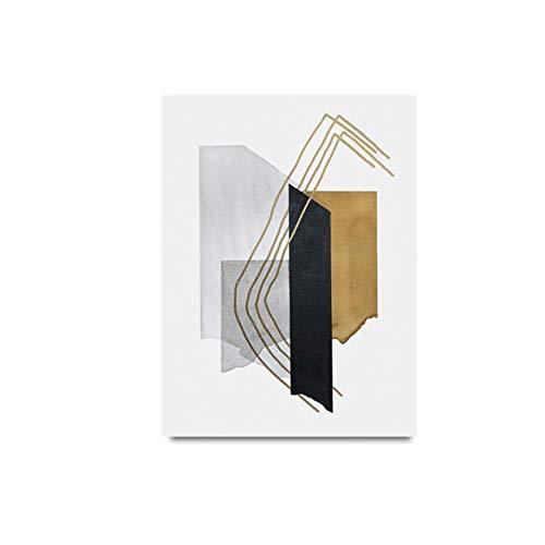 PLDZSH Tríptico Acuarela Azul póster e impresión Lienzo impresión Pinturas Pared Arte Imagen sobre Lienzo Oficina Sala de Estar decoración del hogar, A4 21x30cm sin Marco, A