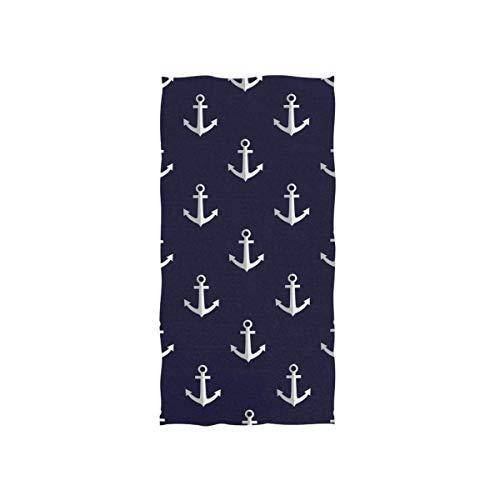 IMERIOi Anker Navy Handtuch 100% super Ultra weiche Baumwollhandtücher für Badezimmer 30 x 70 cm