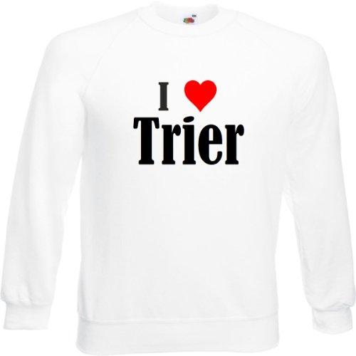 Reifen-Markt Sweatshirt I Love Trier Größe 2XL Farbe Weiss Druck Schwarz