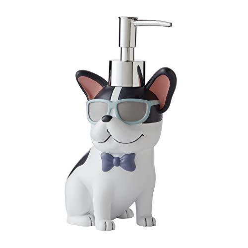 SKL HOME Pet Play Dog Soap Dispenser, Dove Gray