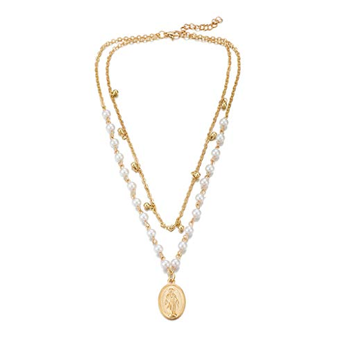 Luckyee Women Necklace Simple And Stylish Alloy Love Shell Pendant Multi-Layer Women's Necklace Jewelry Valentine's Day Gift Birthdays Persents for Girl Friend