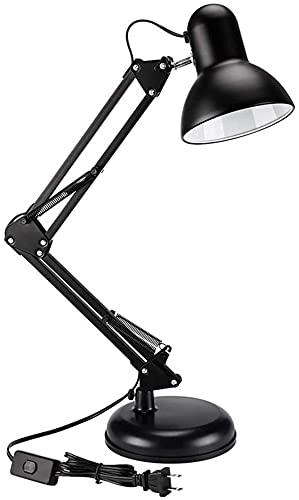Mu Mianhua Lámpara de Mesa Lámpara de Mesa Plegable de Doble Uso, lámpara de Estudio de Trabajo con Clip, lámpara de Mesa LED, Pintura básica de Hierro Forjado
