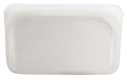 Stasher Reutilizable Alimentos Bolsa de Almacenamiento/Bolsa, 19cm x 12cm, Silicona, 1,5x 19x 12cm