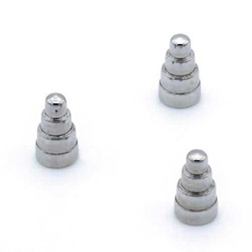 ボディピアス パーツ キャッチ 16G バラエティキャッチ ストレートバーベル ラブレット バナナバーベル へそピアス ネジ式 ダンベル/3mm×5mm3個セット