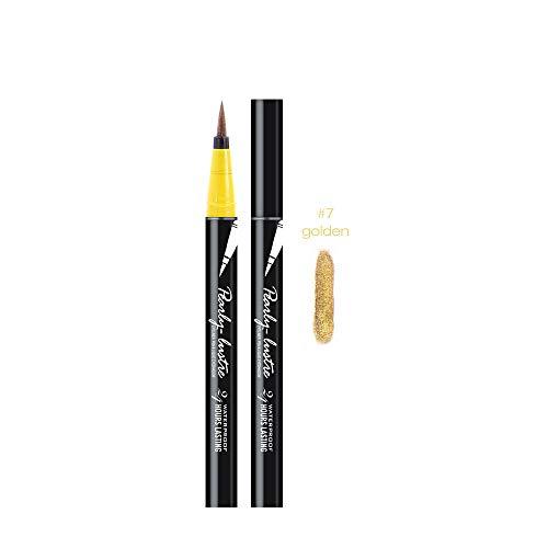 Youdong Beauté Noir Eyeliner imperméable à l'eau Liquide Eye Liner Stylo Crayon Maquillage cosmétique Stylo à Tampon Liquide Eyeliner Noir à Double extrémité, Style Chat, imperméable à l'eau