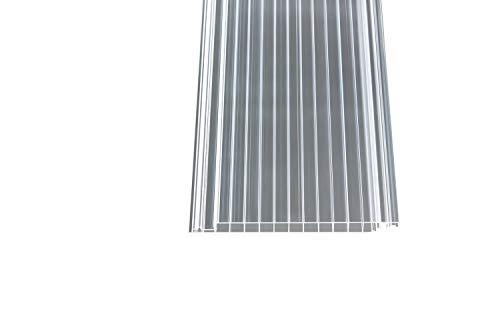 Polycarbonat Dachpaneele klar easy-click plus Paneele 4000 x 230 x 16 mm
