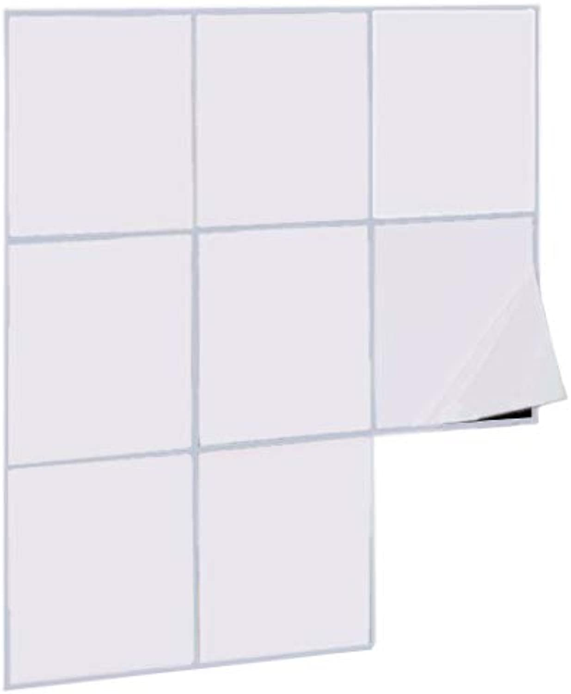 1PLUS Fliesenaufkleber Fliesensticker, 15 x x x 15 cm, selbstklebend - Fliesenfolie Klebefliesen Fliesen-Folie Fliesensticker für Bad, Küche und Co, (300 STK, weiß (glänzend)) B074TH2K6Y 05235a