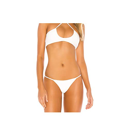 Metermall Fashion For Women Split Swimsuit Sexy Halter Bikini Set Swimwear Bra and Briefs Beach Wear