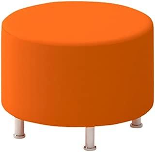 Steelcase Turnstone Alight Round Ottoman, Tangerine Fabric