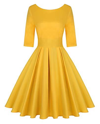 MINTLIMIT Damska sukienka koktajlowa w stylu lat 50. XX wieku z rękawami 3/4