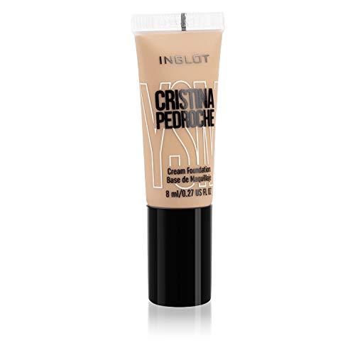 Inglot - Base de Maquillaje YSM Cream Foundation 8 ml, Cristina Pedroche x INGLOT (45 Brozed)