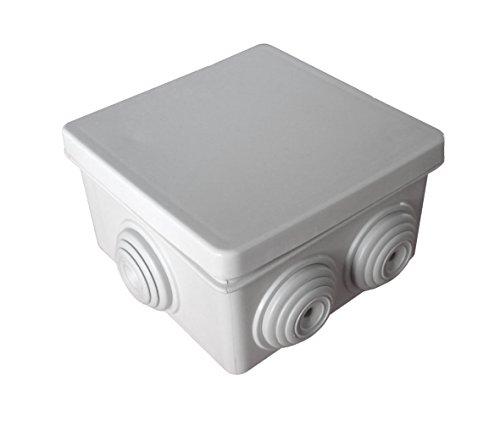 Boîte de dérivation étanche carrée IP55 - 80x80mm Prof. 46mm