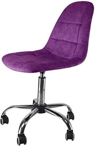 HZYDD Silla ergonómica del Respaldo de la Tela Moderna, el Personal de Muebles de Oficina Casual, Mesa y sillas giratorias de Cinco Ruedas, Amarillo, Verde, Color Nombre: Púrpura (Color : Purple)
