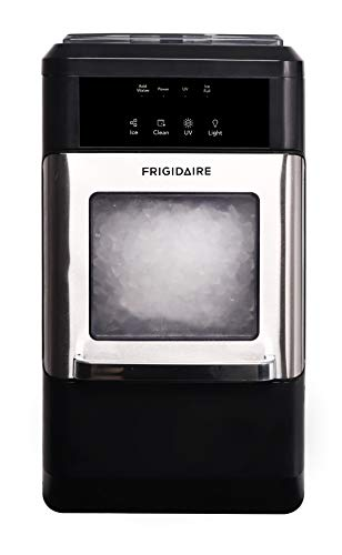 2. FRIGIDAIRE EFIC235-AMZ Countertop Crunchy Chewable Nugget Ice Maker, 44lbs per Day