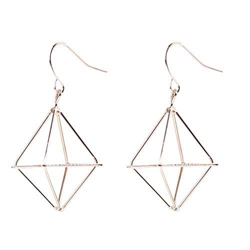 Yinew Ohrring Hohl Dreieck Baumeln Ohrringe Geometrie Pyramide Laterne Ohrringe Schmuck Geschenke Für Frauen, Gold