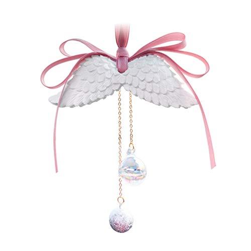 BESPORTBLE Auto Spiegel Charms Bling Crystal Ball Achteruitkijkspiegel Charms Angel Wing Auto Parfum Diffuser Luchtverfrisser Opknoping Hanger Auto Decoratie voor Achteruitkijkspiegel Vanille