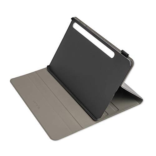 4smarts DailyBiz - Funda con Tapa para Samsung Galaxy Tab S6, con función Atril, Soporte para bolígrafo y Cierre magnético, Piel sintética, Color Negro