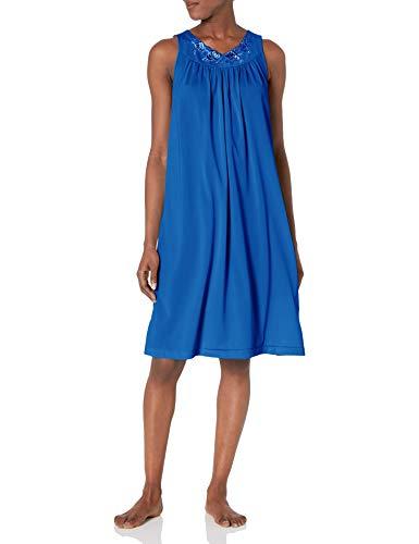 Shadowline Women's Petals 40 Inch Sleeveless Waltz Gown, Navy, Small