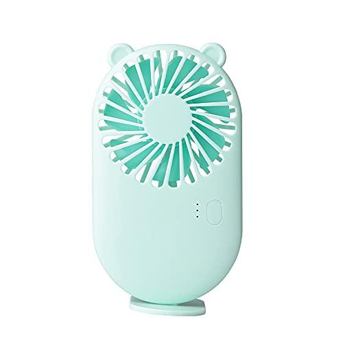 Mini ventilador de mano, portátil, lindo ventilador de escritorio USB pequeño ventilador eléctrico de mesa, ventilador recargable con 3 velocidades para viajes oficina sala