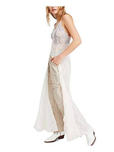 Free People Next to You Lace Maxi Dress (Large) Ivory
