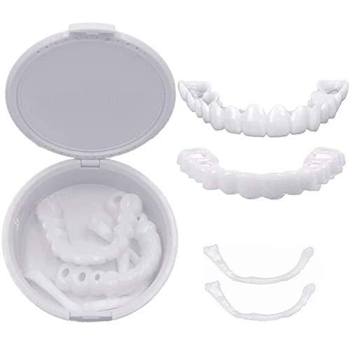 Les prothèses dentaires cosmétiques Dents instantanée Facettes dentier Dents temporaires Haut et des Dents Faux Fond esthétique Dentaire Facettes Snap-on Comfort Fit dentier Rapide,20PCS