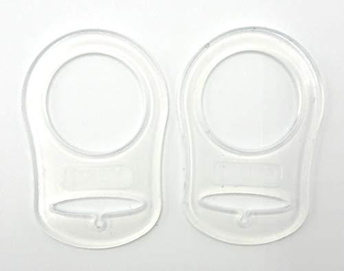 Silikonring (Adapter) für Schnuller - BPA+Schadstofffrei - Schnullerhalter für Baby Schnullerketten aus weichem Silikon (2er Set)