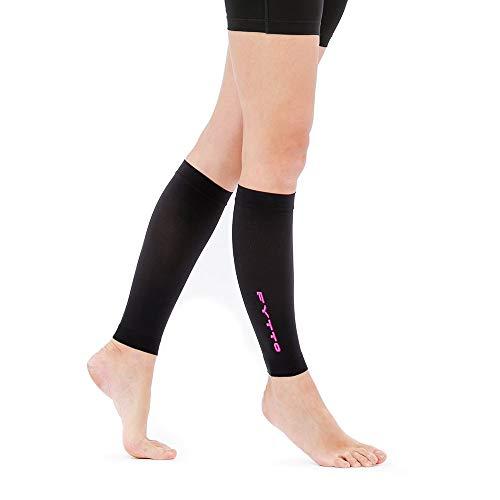 FYTTO 1022 fußlose Kompressionsstrümpfe Klasse 1 mit medizinisch abgestufter Kompression 15-20 mmHg, kniehohe Stützstrümpfe ohne Fuß, medizinische Kompressionsstulpen für Damen und Herren, pink - L