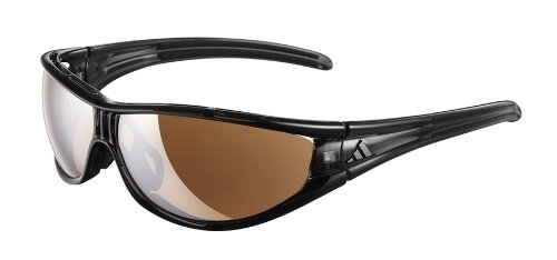 Adidas Evil Eye - Gafas de sol deportivas (talla S), Negro (Shiny Grey / Black)