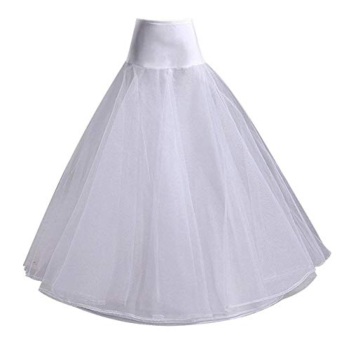 Ieuan Full White A-Line Hoops Wedding Accessories Petticoat Underskirt Slips Prom Gown for Wedding Dress