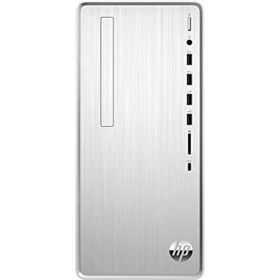 HP Pavilion Desktop Computer, Intel Core i5-9400, Intel UHD Graphics 630, 12GB RAM, 1TB Hard Drive, Windows 10 Home(TP01-0050, Natural Silver)