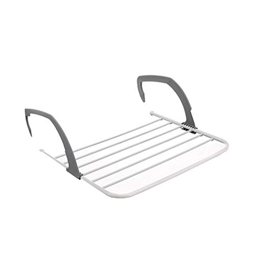 ZS ZHISHANG Multifunctional Foldable Drying Rack Folding Clothes Radiator Drying Airer, Plastic/Metal,Household Indoor Outdoor Balcony Adjustable Shelf Clothes Towel Rack