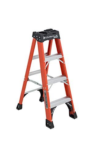 Louisville Ladder 4-Foot Fiberglass Step Ladder, 375-Pound Capacity, FS1404HD