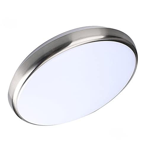 LINCCW IP54 Luz de Techo LED Impermeable Regulable Lámpara de Techo Plata para Dormitorio Inodoro Baño Guardería Cocina Lámpara Iluminación de Techo Minimalista Cambio de Color 36W 2800lm D40*H4.2CM